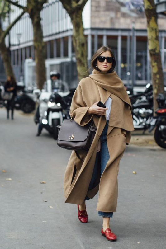 Outfits de mujer con mocasines de invierno