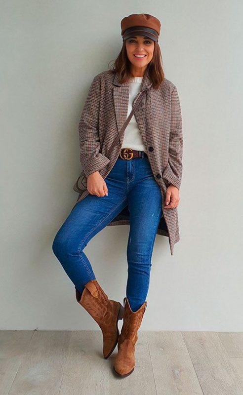 jeans con botas texanas marrones