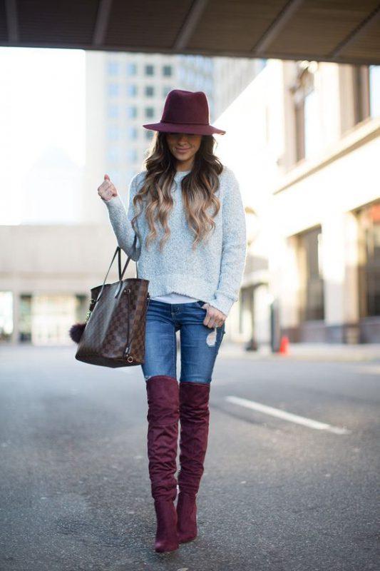 look mujer con jeans y bucaneras