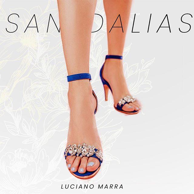 sandalais azules verano 2021 Luciano Marra