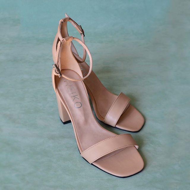 sandalias rosadas taco medio verano 2021 Heiko