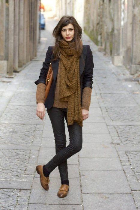look negro zapatos marrones para mujer