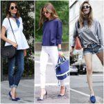 Como combinar zapatos azules para mujer