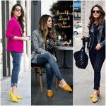 Como combinar zapatos amarillos mostaza para mujer