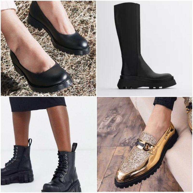 suela tractor en zapatos y botas Tendencias en calzados invierno 2021