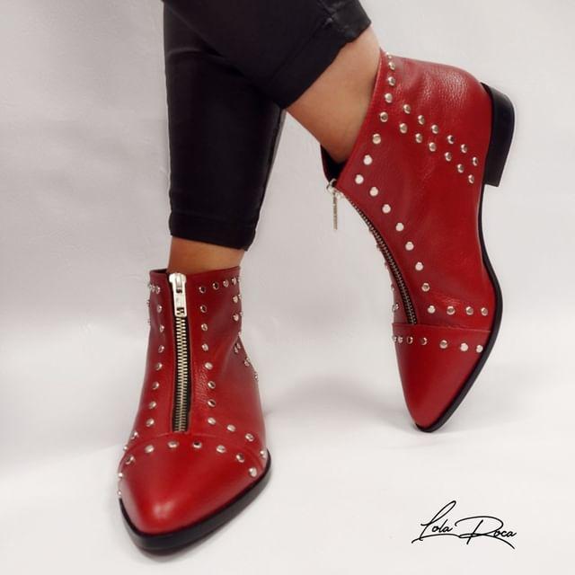 botita roja texana invierno 2021 Lola Roca