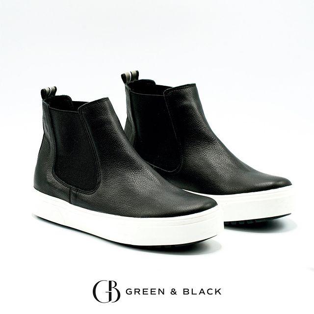 botitas chelsea para mujer invierno 2021 Green and Black