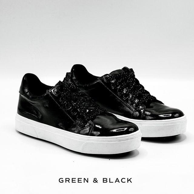 zapatillas negras para mujer invierno 2021 Green and Black