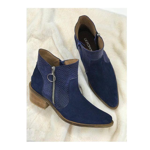 botas azules invierno 2021 Domani Calzados