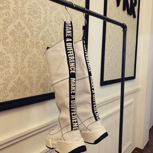 botas blancas Valkirya Zapatos