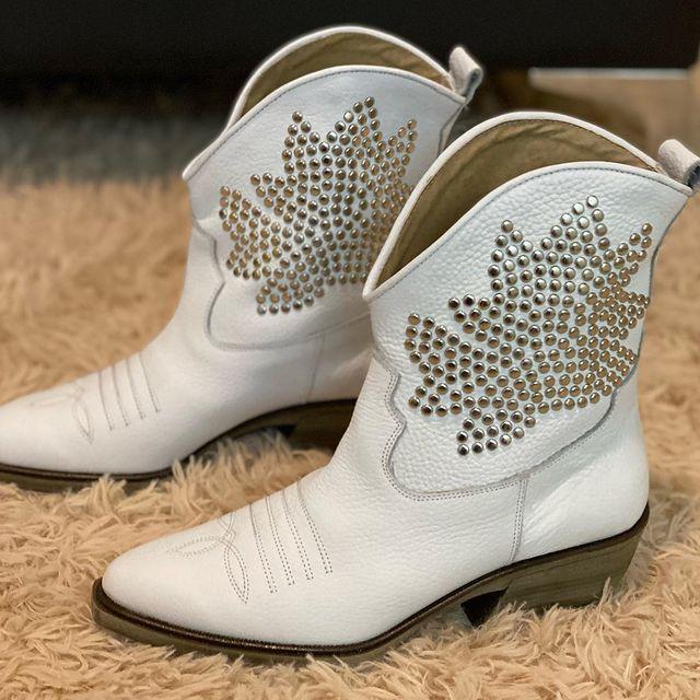 botas texanas blancas invierno 2021 Viento and Marea Calzados
