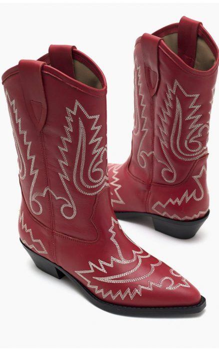 botas texanas bordadas otono invierno 2021 Paruolo