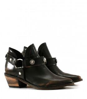 botas texanas de cuero negro invierno 2021 Batistella