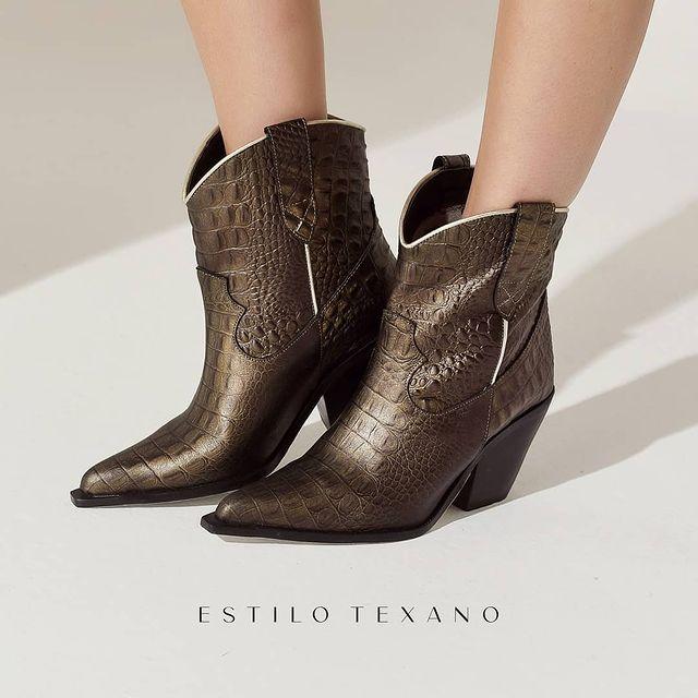 botas texanas doradas invierno 2021 Gravagna