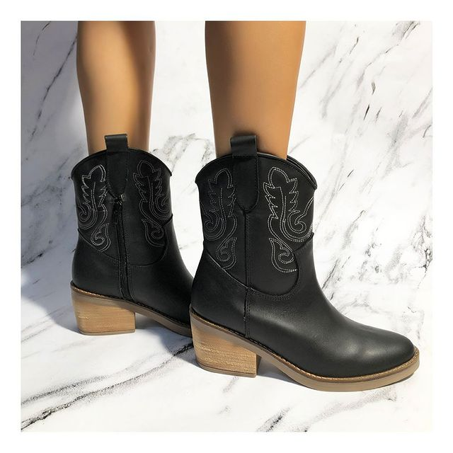 botas texanas negras invierno 2021 Calzados Tops