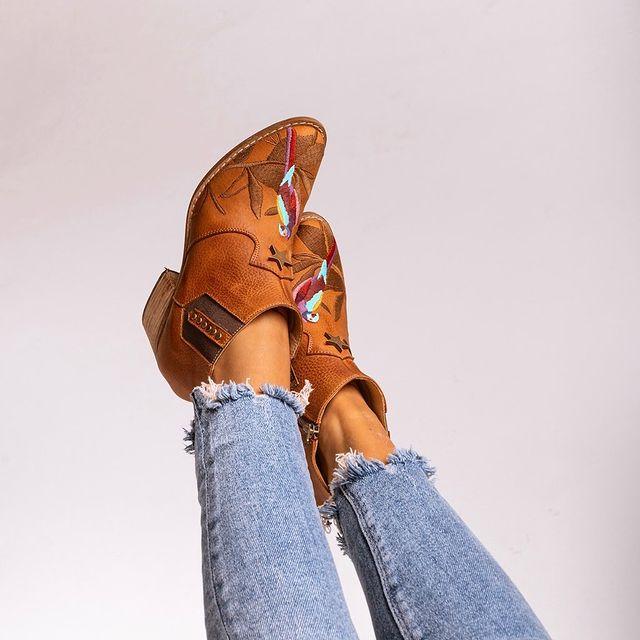 botitas texanas originales de cuero invierno 2021 Clara Barcelo
