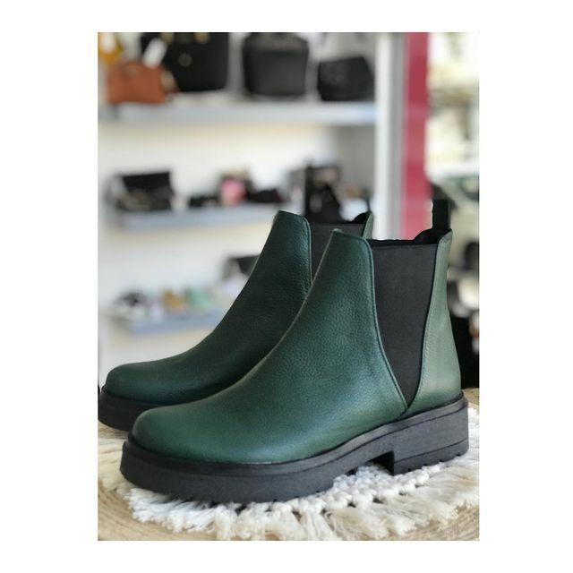 botitas verde oscuro invierno 2021 Domani Calzados