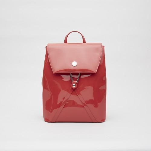 mochila de charol roja invierno 2021 Blaque