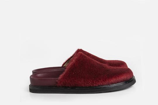 slipper de pelo sintetico bordo invierno 2021 Ferroni calzado