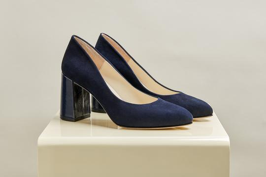 stilettos azules gamusa invierno 2021 Ferroni calzado