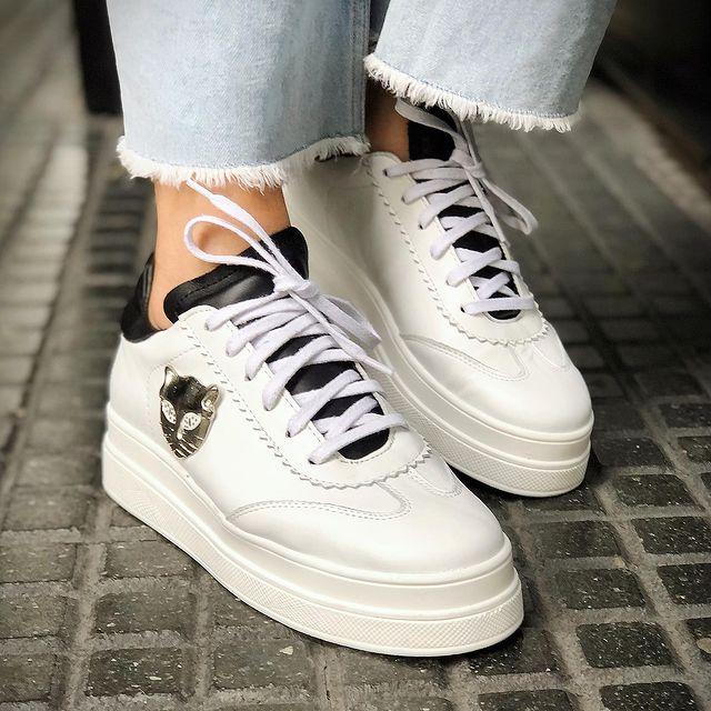 zapatillas blancas invierno 2021 Gekke