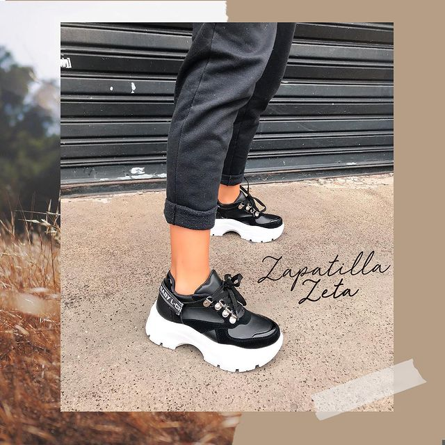 zapatillas negras invierno 2021 Luna Chiara