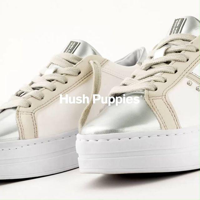 zapatillas plateadas y cremas invierno 2021 Hush Puppies