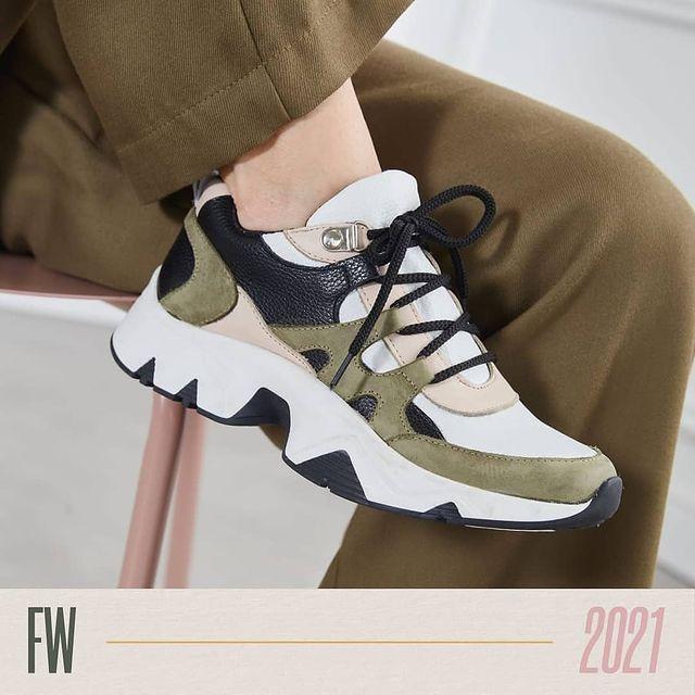 zapatillas verde militar invierno 2021 Calzados Traza