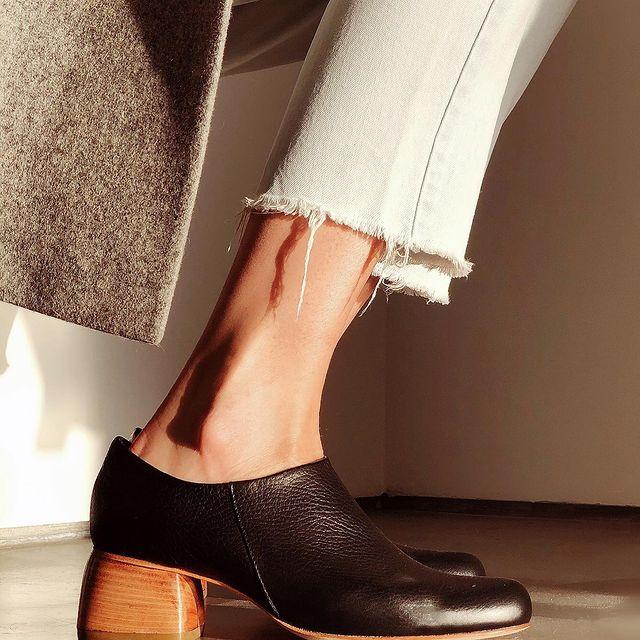 zapato negro taco medio invierno 2021 Gekke