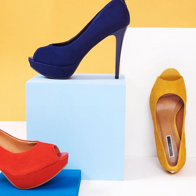 zapatos de colores con plataformas invierno 2021 Via Uno