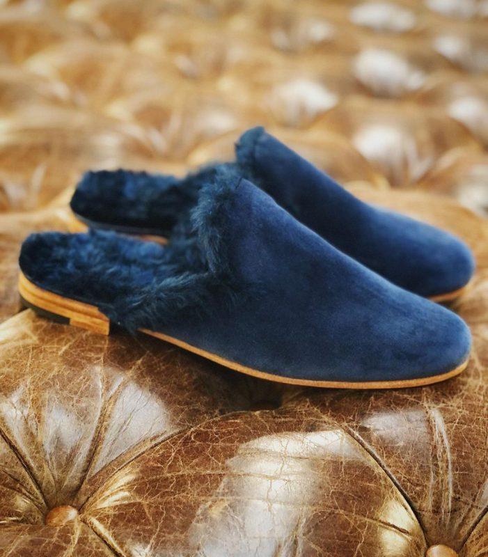 zapatos de peluche azules gekke invierno 2021