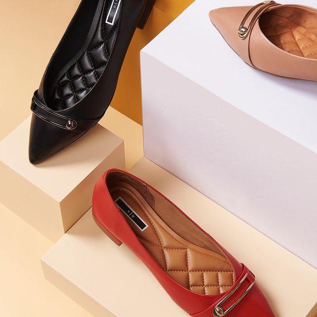 zapatos planos punta fina invierno 2021 Via Uno