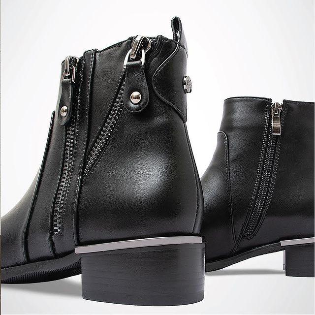 botas negras con cierre invierno 2021 Barker