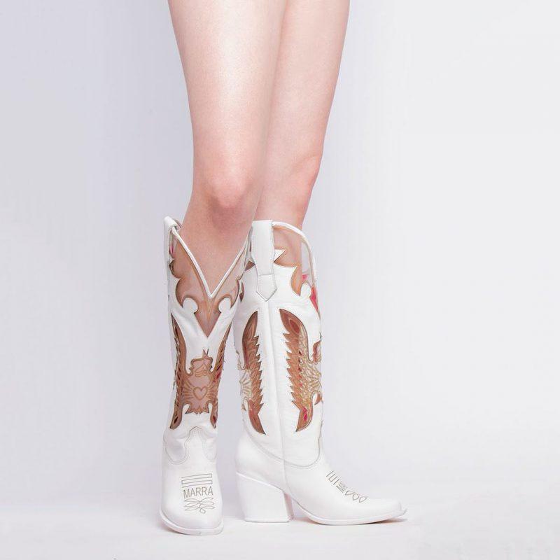 botas texanas blancas invierno 2021 Luciano Marra