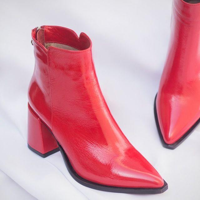 botitas rojas invierno 2021 Maggio Rossetto