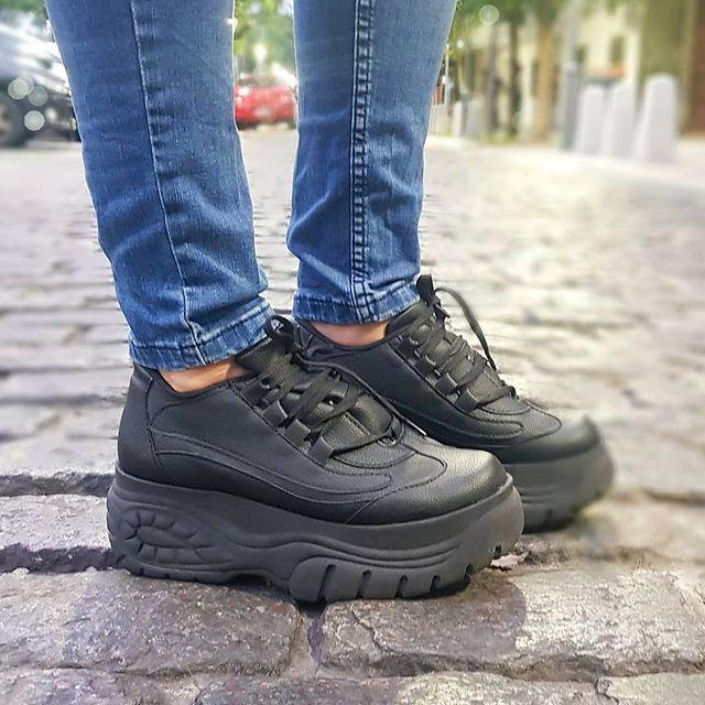 zapatillas negra con plataformas invierno 2021 NEXT FASHION