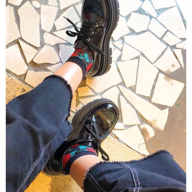 zapatos acordonados de charol para mujer invierno 2021 Credo
