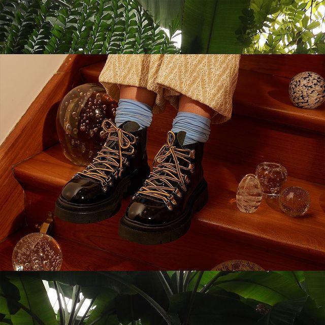 zapatos de charol acordonados invierno 2021 Lomm