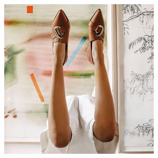 zapatos planos punta fina invierno 2021 Chwala