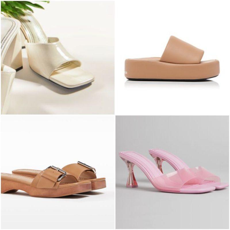 Una tira acha sandalias de moda verano 2022