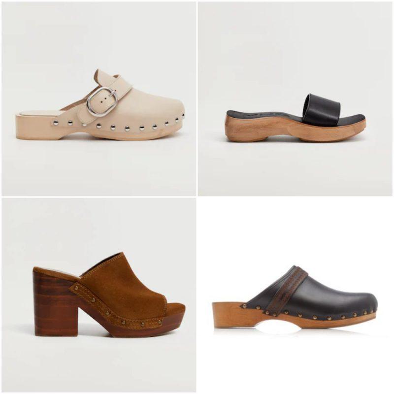 zuecos zapatos de moda verano 2022