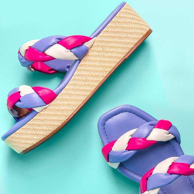 sandalias purpura y fucsia verano 2022 Beira Rio