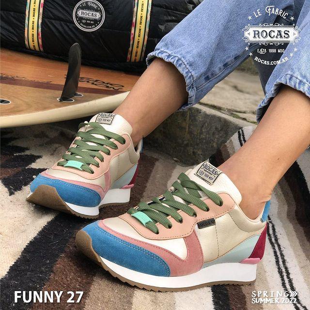zapatillas multicolor verano 2022 Rocas Calzados