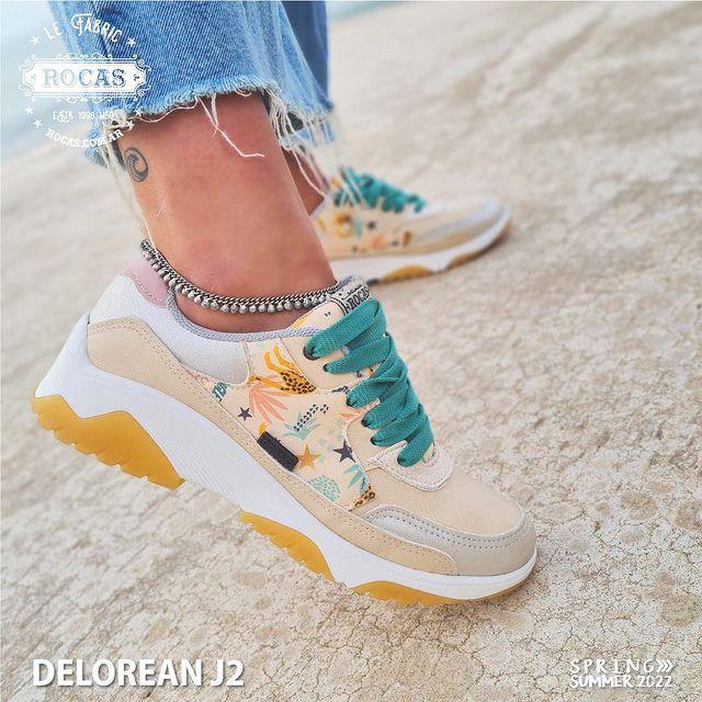 zapatillas tonos beige verano 2022 Rocas Calzados