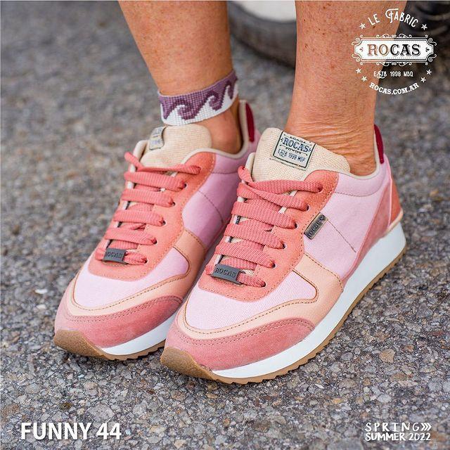 zapatillas tonos rosa verano 2022 Rocas Calzados
