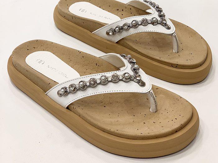 ojotas sandalias blancas verano 2022 Calzados Micadel