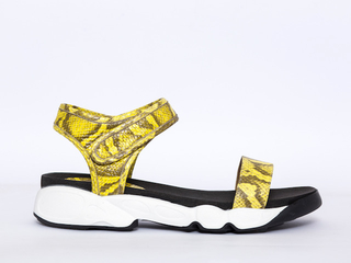 sandalia reptil amarillo verano 2022 JOW calzados