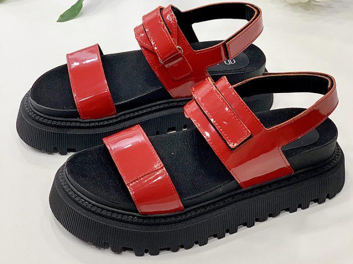 sandalias charol rojo verano 2022 Calzados Micadel