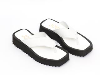 sandalias ojotas blancas verano 2022 JOW calzados