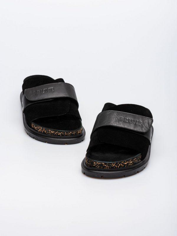 sandalias planas negras verano 2022 Prune